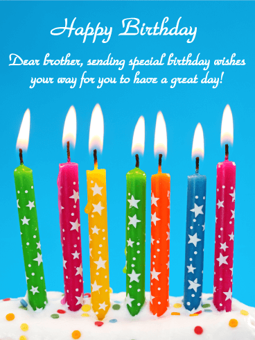 Special Wishes - Happy Birthday Card for Brother