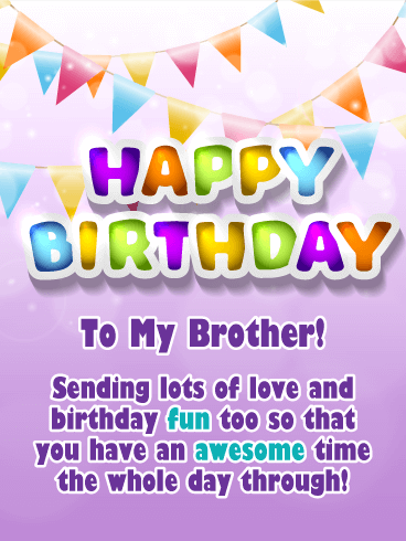 An Awesome Day Happy Birthday Card For Brother Birthday