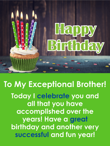 Celebrating You - Happy Birthday Card for Brother