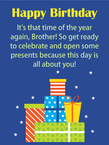 Get Ready to Celebrate! Happy Birthday Card for Brother