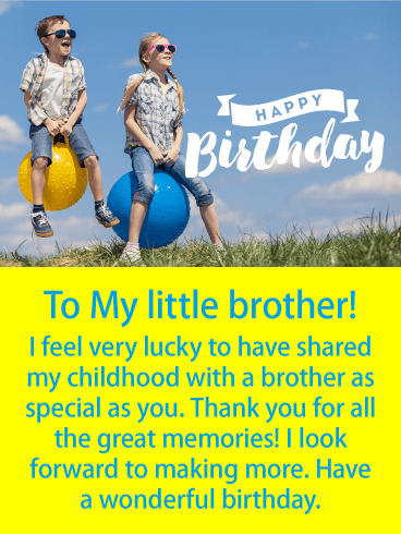 To a Special Brother - Happy Birthday Card