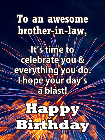 Celebrate You - Happy Birthday Card for Brother-in-Law