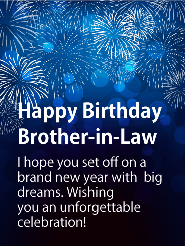 Brand New Year - Happy Birthday Card for Brother-in-Law