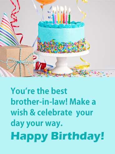 You Re The Best Happy Birthday Card For Brother In Law Birthday Greeting Cards By Davia