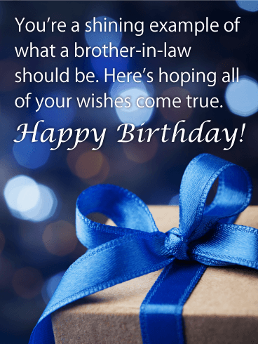 Shining Example - Happy Birthday Card for Brother-in-Law