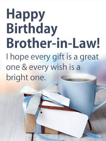 Bright Wish Happy Birthday Card For Brother In Law