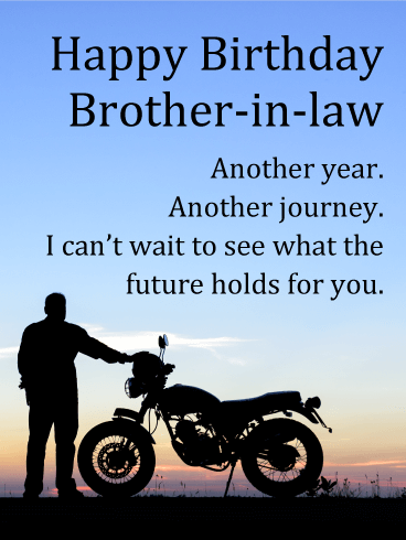 Another Journey - Happy Birthday Card for Brother-in-Law