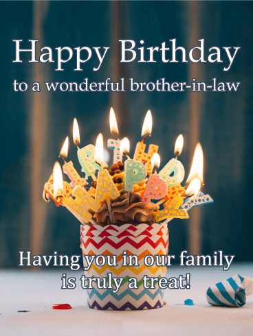 Treat Yourself - Happy Birthday Card for Brother-in-Law