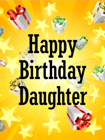 Exciting Happy Birthday Card for Daughter