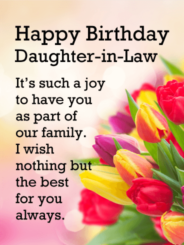 Such A Joy Happy Birthday Card For Daughter In Law