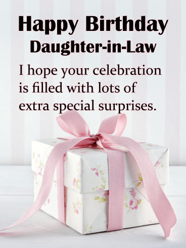 A Beautifully Wrapped Gift - Happy Birthday Card for Daughter-in-Law