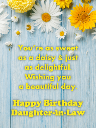 Sweet as Daisy - Happy Birthday Card for Daughter-in-Law