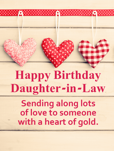 Sending Lots of Love - Happy Birthday Card for Daughter-in-Law
