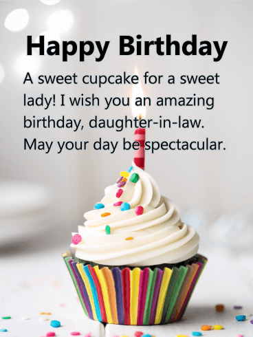 To a Sweet Lady - Happy Birthday Card for Daughter-in-Law