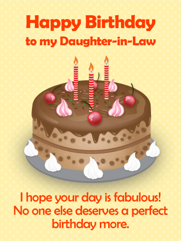 A Sweet Memory - Happy Birthday Card for Daughter-in-Law