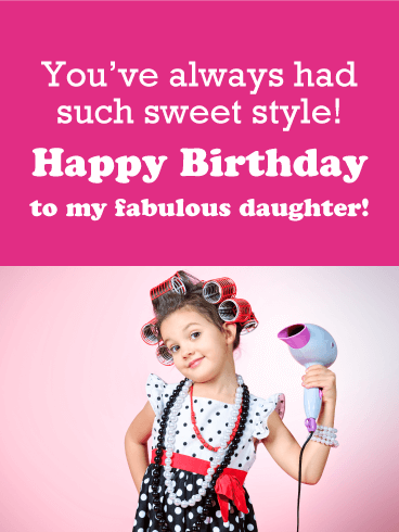 Polka Dot Pin-Up - Happy Birthday Card for Daughter