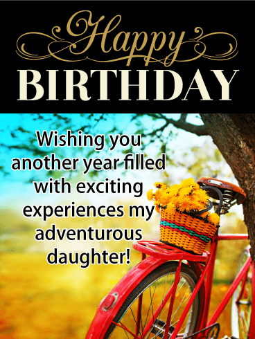 Vintage Bicycle - Happy Birthday Card for Daughter