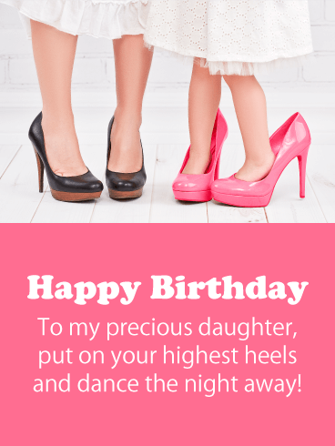 Dance the Night Away - Happy Birthday Card for Daughter
