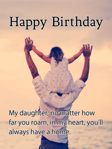 Always in My Heart - Happy Birthday Card for Daughter