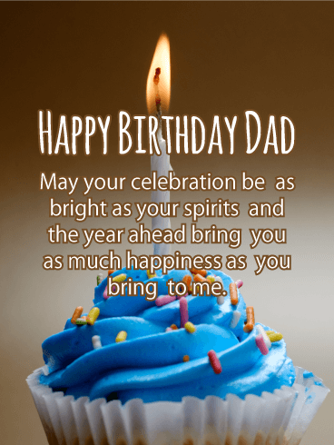 Happy Birthday Dad May Your Celebration Be As Bright Spirits And The Year
