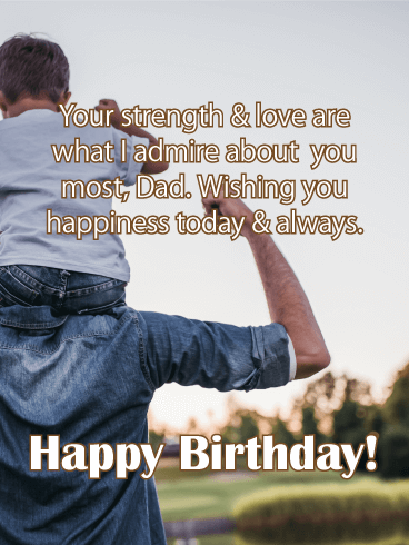 Wishing You Happiness - Happy Birthday Card for Father