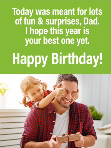 Meant for Lots of Fun! Happy Birthday Card for Father
