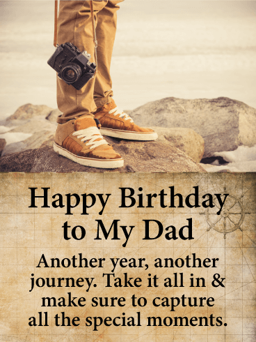 Capture All the Moments - Happy Birthday Card for Father