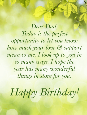 I Look Up To You Happy Birthday Card For Father Birthday