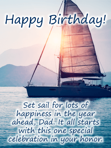 One Special Celebration - Happy Birthday Card for Father