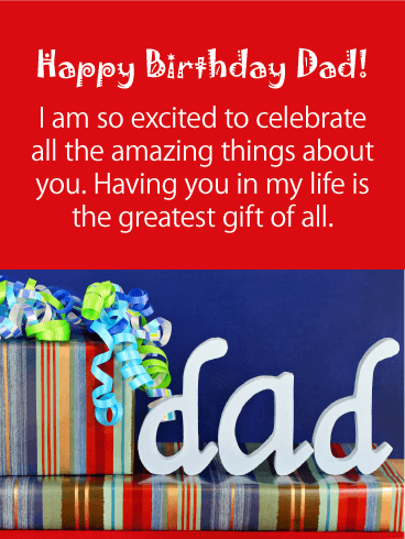 You are the Greatest - Happy Birthday Card for Father