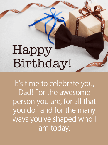 To the Awesome Person - Happy Birthday Card for Father