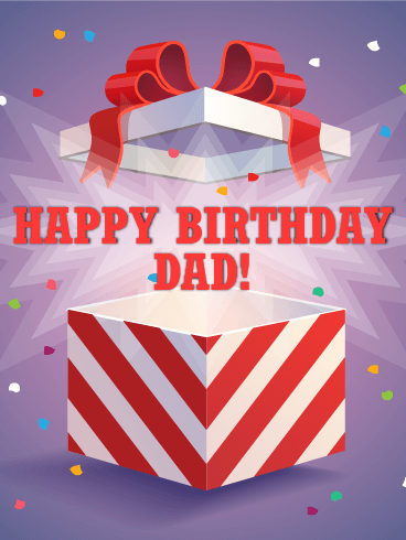Surprise! Happy Birthday Card for Father
