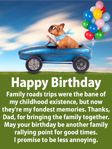 Another Family Rallying - Happy Birthday Card for Father