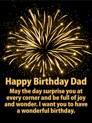 Be Full of Joy - Happy Birthday Card for Father