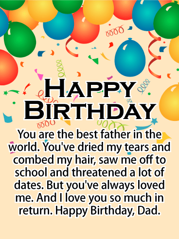 You Are The Best Happy Birthday Card For Father Birthday
