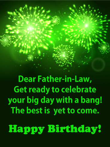 Get Ready to Celebrate - Happy Birthday Card for Father-in-Law