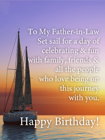 Set Sail for Celebration - Happy Birthday Card for Father-in-Law