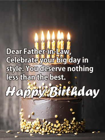 Your Big Day! Happy Birthday Card for Father-in-Law