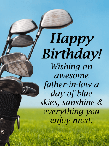 A Day of Blue Sky - Happy Birthday Card for Father-in-Law
