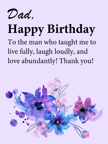 Birthday Flower Cards For Father Birthday Greeting Cards By