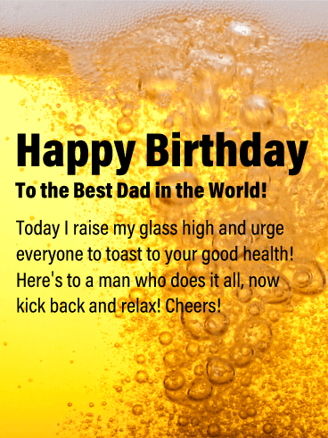 Beer Mug - Happy Birthday Card for Father