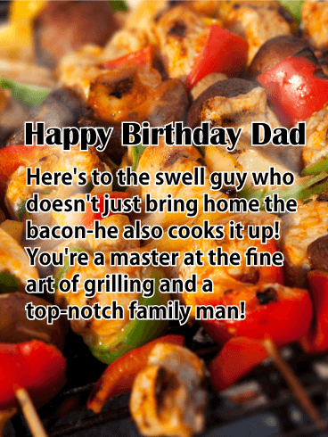 Happy Grilling - Happy Birthday Card for Father