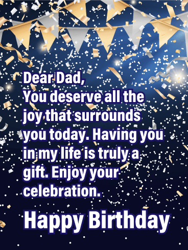 You're a Gift - Happy Birthday Card for Father