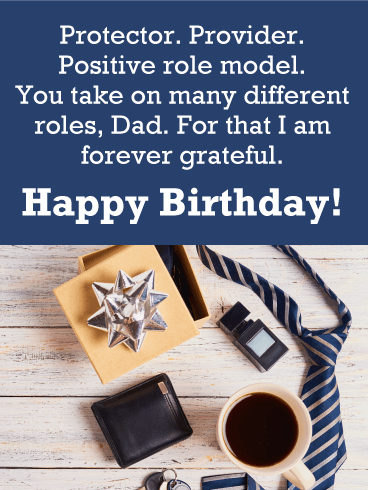 Forever Grateful - Happy Birthday Card for Father