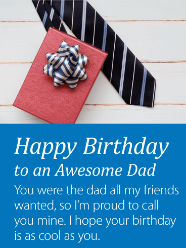 Birthday Gift For Father Card