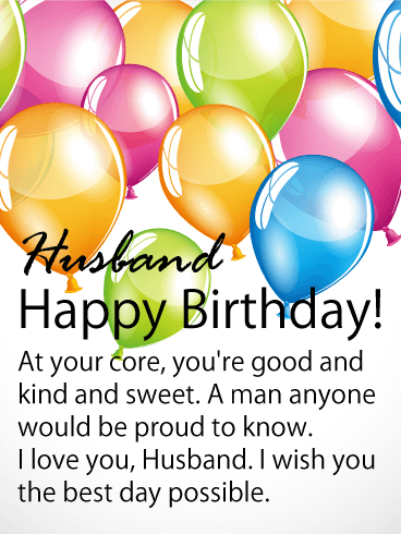 Wish You the Best - Happy Birthday Card for Husband
