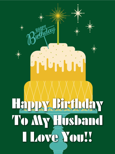 Big Birthday Cake Card for Husband