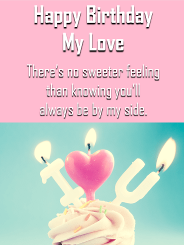 Sweet Love - Birthday Wishes Cards  for Lover