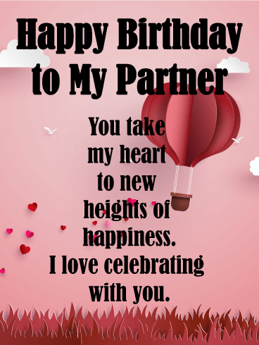 New Heights Of Love Birthday Wishes Cards For Lover Birthday Greeting Cards By Davia