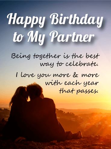 Intimate Sunset Love - Birthday Wishes Cards  for Lover
